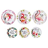 PROKTH Hanging Plate Iron European Style Commemorative Decorative Plates Wall Nordic Wall Decoration Collection Wall Rack for Plates and Artwork (Set of 6)