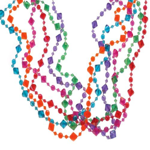 U.S. Toy JA647 Pearlized Diamond Bead Necklaces