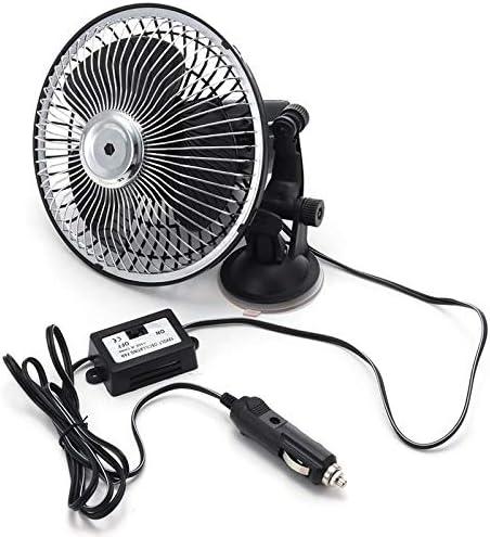 6 Inch Black 12V 24V Mini Car Air Fan Adsorption Energy Saving Ventilation Cooling Portable Fan