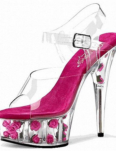 fuchsia Plataforma Tacones Punta ZQ Tacones Abierta Rosa Noche mujer de Casual eu44 pink us6 us12 Stiletto eu44 Boda y eu36 Fiesta us12 uk10 uk10 Sandalias Tac¨®n Zapatos pink Rojo cn36 uk4 cn46 PVC rYn08Wfn
