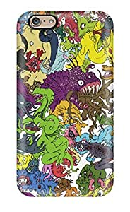 Premium Monster Madness Back Cover Snap On Case For Iphone 6