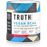 Truth Nutrition Naturally Fermented BCAA 2:1:1 Powder (Instantized) – Red Raspberry | 30 Servings | Plant Based, Non-GMO, Gluten Free | Branched Chain Amino Acids | Pre/Post Workout Supplement