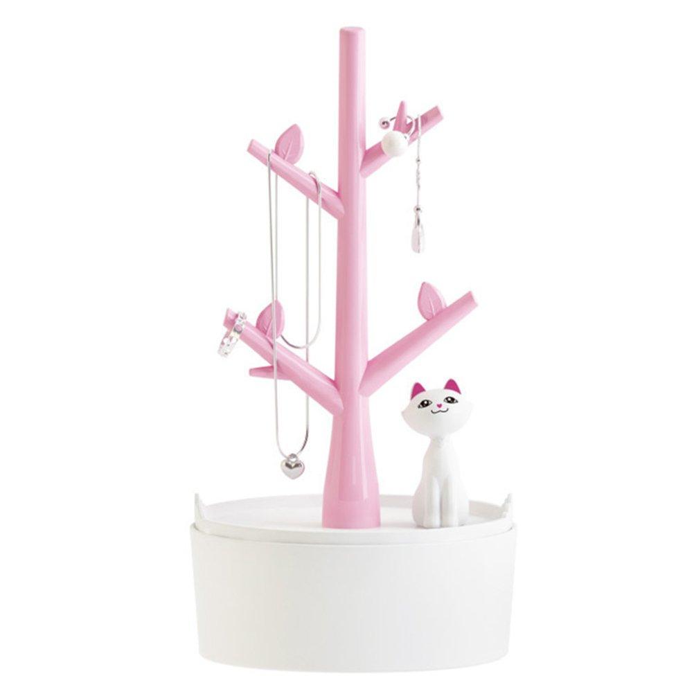 luoem gioielli albero gioielli Organizer con gatti per orecchini/collana/Bracciali