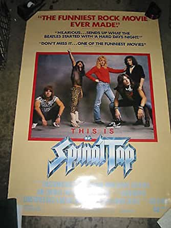 this is spinal tap original u s one sheet movie poster christopher guest at amazon 39 s. Black Bedroom Furniture Sets. Home Design Ideas