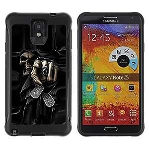 iArmor Hybrid Anti-Shock Defend case cover / Death Grim Reaper Skull Evil / Samsung w7AZPuDv1uU Galaxy Note 3