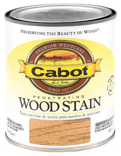 CabotStain 144-8124 QT Cabot 1 Quart Interior Oil Wood Stain, Cherry Cherry Stain Oak
