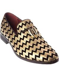 sparko22 Mens Slip-On Fashion-Loafer Dress-Shoes