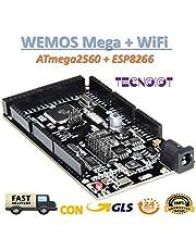 TECNOIOT WeMOS Mega + WiFi R3 ATmega2560 + ESP8266 USB-Ttl for NodeMCU Arduino Mega