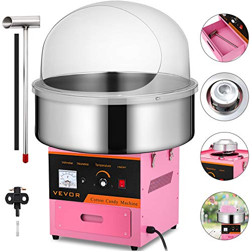 Happybuy Electric Candy Floss Maker With Cover 20.5 Inch Cotton Candy Machine 1030W for Various Parties (Cotton Candy Machine with cover) by Happybuy (Image #9)
