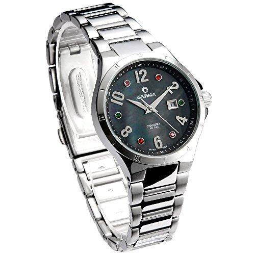 Casima CR-5104-S7 Black Women Watch 3 Hands Fashion Swarovski Crystal Clever Girl Watch