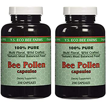 Amazon.com: YS Organics Bee Pollen - 200 Capsules (Pack of