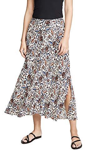 Velvet Women's Willa Skirt, Leaf, Floral, Off White, X-Small