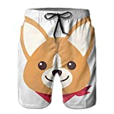 Men's Welsh Corgi Boardshorts Swim Trunks With Pockets Large
