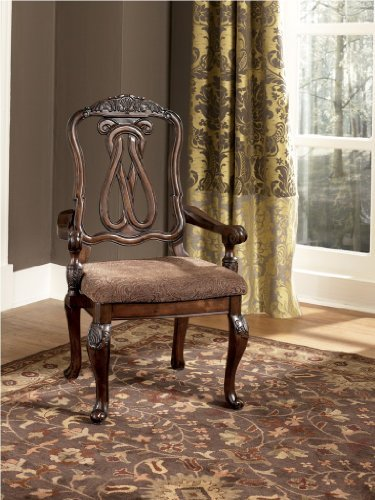 North Shore Dining Upholstered Arm Chair Set of 2 by Ashley