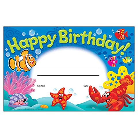 Trend Enterprises Happy Birthday! Sea Buddies Recognition Awards (T-81055) (Trend Educational Products)