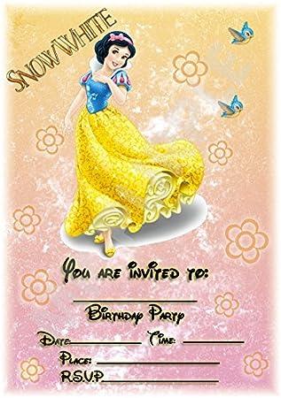 Disney Snow White - Fiesta de cumpleaños invitaciones ...