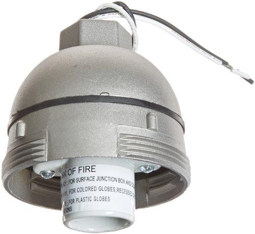 - RAB Lighting VP1 Vaporproof VP Ceiling Pendant Mount, A19 Type, Aluminum, 150W Power, 1/2