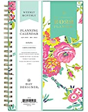 """Day Designer for Blue Sky 2022 Weekly & Monthly Planner, 5"""" x 8"""", Flexible Cover, Wirebound, Peyton White (103619-22)"""