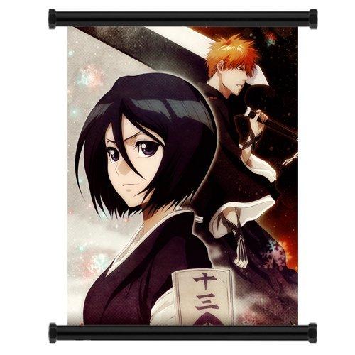 Bleach Ichigo Rukia (Bleach Rukia and Ichigo Anime Fabric Wall Scroll Poster (16