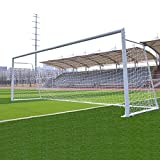 Football Net Soccer Goal Net White/Orange Polyethylene Rebound Protection Standard Size for Field Outdoor Football Training - Goal and Ball NOT Included