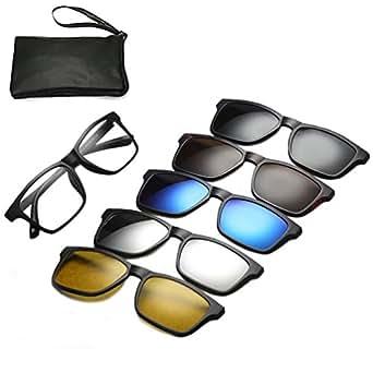 Amazon.com: Magnetic Sunglasses Clip On Glasses Unisex