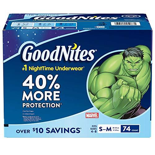 (GoodNites Bedtime Underwear for Boys (Size 4 - 8 Boys - 74 ct.) )