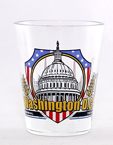 Washington D.C. 3 View Shot Glass (Best Souvenirs From Dc)