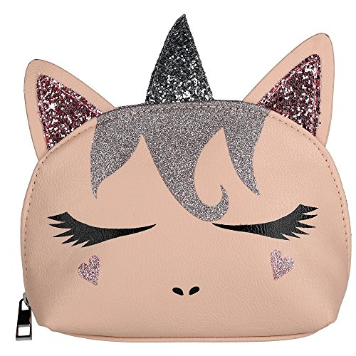 OMG Accessories Unicorn Cosmetic Travel Bag, Blush