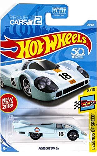 Hot Wheels 2018 50th Anniversary Legends of Speed Porsche 917 LH 124/365, Light Blue