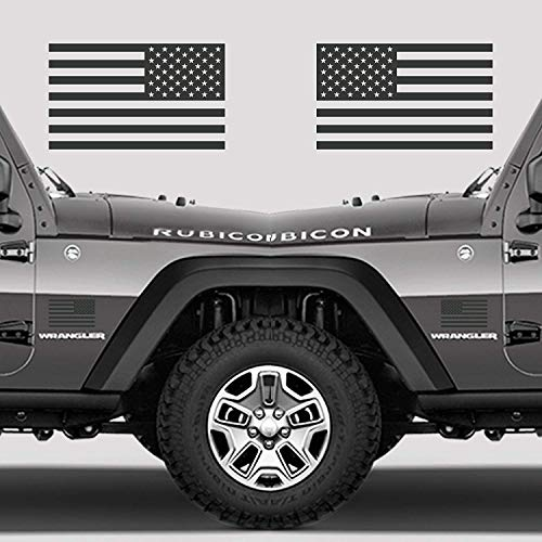 Classic Biker Gear Subdued American Flags Tactical Military Flag USA Decal Jeep 5