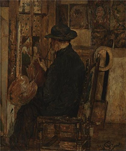 Perfect Effect Canvas ,the Amazing Art Decorative Prints On Canvas Of Oil Painting 'The Studio Of Willem Linnig I,Father Of The Painter,1875', 20x24 Inch / 51x61 Cm Is Best For Basement Decor And Home Decoration And Gifts