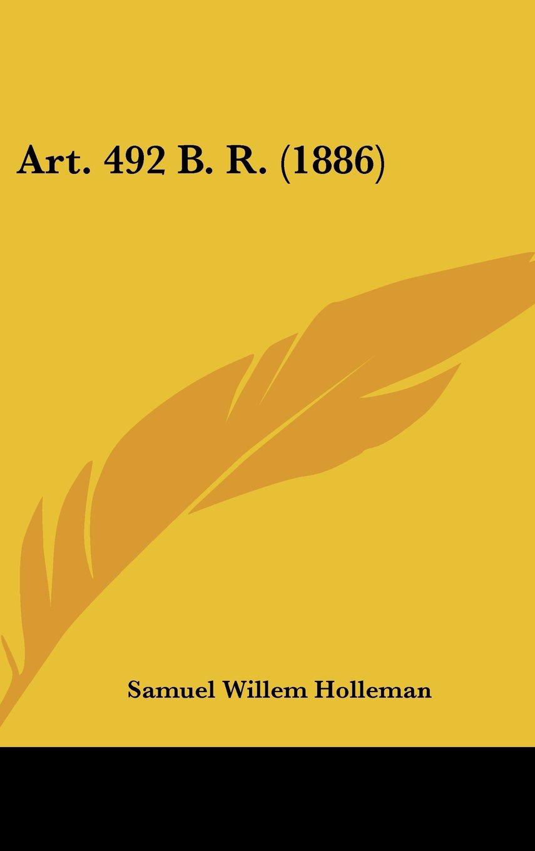 Art. 492 B. R. (1886) (Chinese Edition) PDF