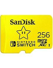 SanDisk MicroSDXC UHS-I Scheda per Nintendo Switch 256 GB, Giallo (Yellow)