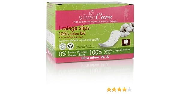 SilverCare Protection protège-slips anatomiques 100% algodón orgánico, embalaje individual Caja de 24 unidades: Amazon.es: Salud y cuidado personal