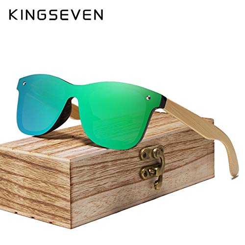 WHAELI Gafas de sol de bambú reales Gafas de madera ...