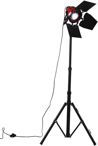 Lámpara de pie Retro Proyector rojo y negro Reflector Proyector de ...
