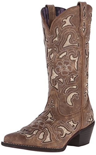 Laredo Women's Sharona Western Boot, Tan, 10 M US -