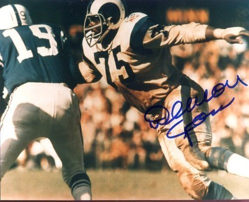 Deacon Jones (Football HOF) Autographed/Original Signed 8x10 Color Action-photo - Deacon Jones Was One of the VERY Best Defensive Players in Football History
