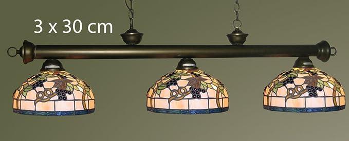 Lampara Billar Rioja 3 Focos D30CM 130 cm: Amazon.es: Iluminación