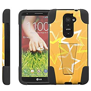 [ManiaGear] Rugged Armor-Stand Design Image Protect Case (golden stars) for LG G2 / D800 / D801 / LS980