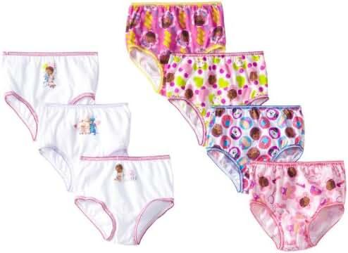 Disney Little Girls'  7-Pack Doc McStuffins  Underwear
