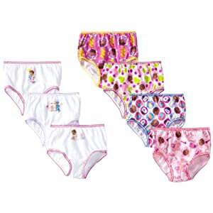 Disney Little Girls'  7-Pack Doc McStuffins  Underwear