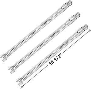 SHINESTAR 62752 Burner Tubes Set for Weber Genesis 300 Series Genesis e310 Genesis 330 (2011-2016), Stainless Steel, 19 1/2 inch