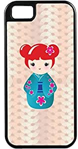 iPhone 4 4S Cases Customized Gifts Cover Adorable Japanes doll posing with a smile Case for iPhone 4 4S