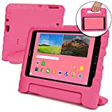 Samsung Galaxy Tab 4 7.0 case for kids [SHOCK PROOF KIDS TAB 7 CASE] COOPER DYNAMO Kidproof Child Tab 4 7 inch Cover for Girls Boys Toddlers | Kid Friendly Handle Stand, Light, Screen Protector (Pink)