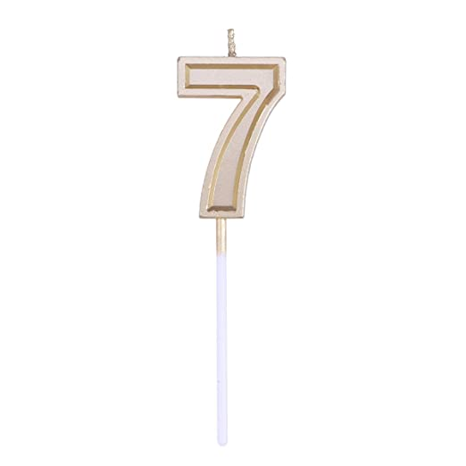 SUPVOX Número de oro Vela Glitter Vela Pastel de cumpleaños ...