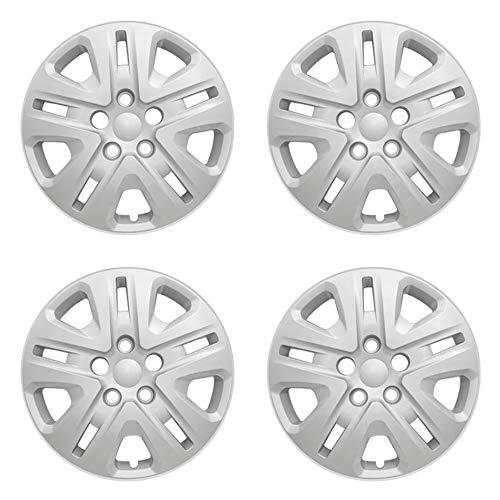 MARROW New Wheel Covers Replacements Fits 2014-2019 Dodge Grand Caravan SE / 2013-2018 Dodge Journey SE ; 17 inch; 10 Spoke; Silver Color; Plastic; Set of 4