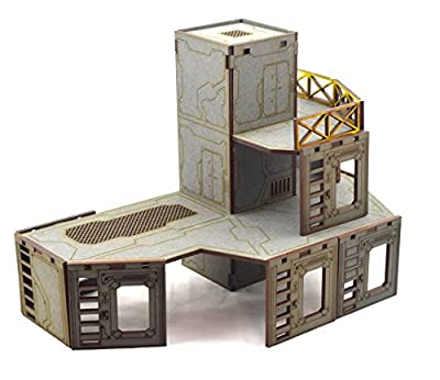 Industry of War - Elevator Tower Multi-Level Battlefield Terrain - Necromunda Sci-Fi 40k Warhammer by Wws