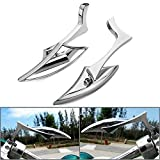 Astra Depot Motorcycle Chrome Spear Blade Mini Side Mirrors for Harley Davidson Sportster Dyna Softail