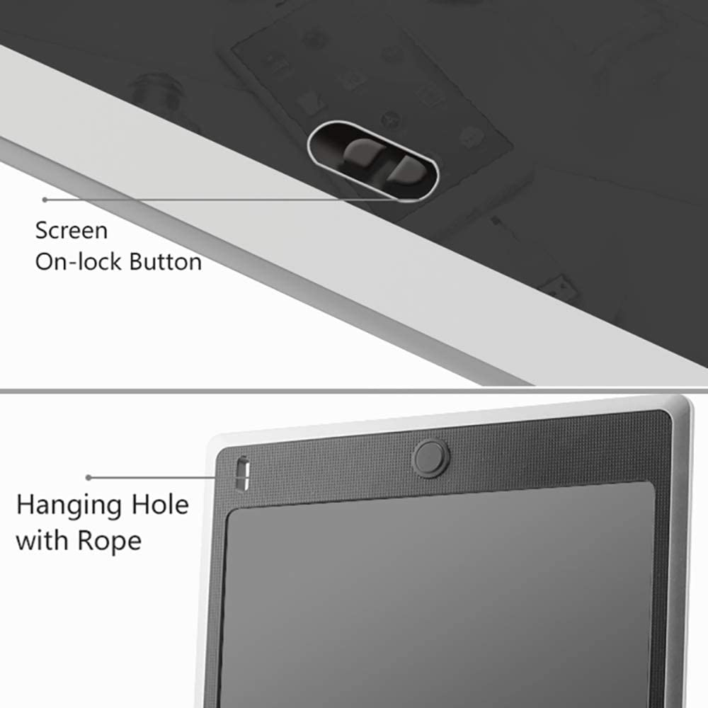 DFCHT Electronic Graphic Board,10 Inch LCD Writing Tablet E Writer Paperless Digital Drawing Notepad for Home Office Writing Drawing